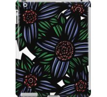 Mizzle Flowers Red Green Blue iPad Case/Skin