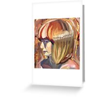 Colorful lady Greeting Card