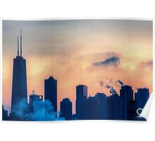 City Skyline Silhouette Poster