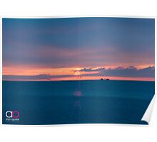 Sunrise and Lake Michigan Poster