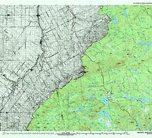 Maine USGS Historical Map Megantic 808079 1994 100000 by wetdryvac
