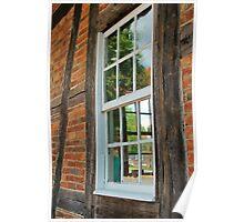 Old Salem Window Poster