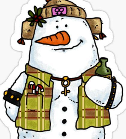 butch snow woman Sticker