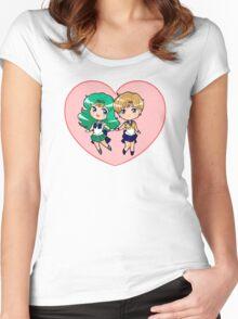 Uranus and Neptune Women's Fitted Scoop T-Shirt
