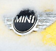 Mini Cooper with snow by nojameshere