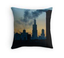 Sears, Smoke, Silhouette Throw Pillow