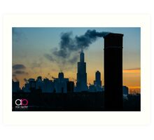 Sears, Smoke, Silhouette Art Print