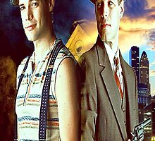 Jack Kelly and Clyde Barrow by kathyplumber