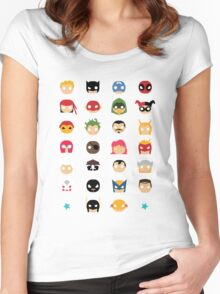Super Alphabet! Women's Fitted Scoop T-Shirt