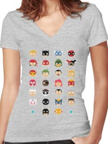 Super Alphabet! Women's Fitted V-Neck T-Shirt