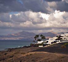 Cloudy Puerto del Carmen, Lanzarote by Steve Mathers
