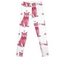 Pink Kitty  Leggings
