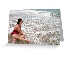 Enjoying the Surf At Ocean Grove, NJ Greeting Card