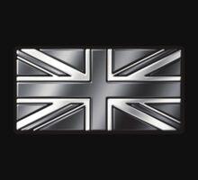 British Union Jack Flag 2 - UK - Metallic - Steel One Piece - Long Sleeve