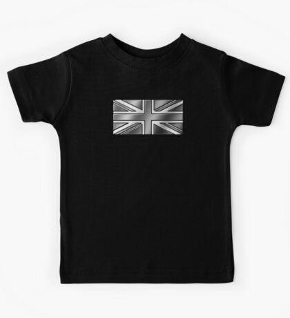 British Union Jack Flag 2 - UK - Metallic - Steel Kids Tee