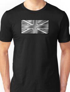 British Union Jack Flag 2 - UK - Metallic - Steel Unisex T-Shirt