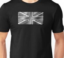 British Union Jack Flag 2 - UK - Metallic - Steel Unisex T-Shirt