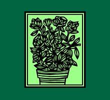 Celadon Flowers Green Black Tank Top