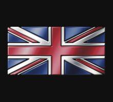 British Union Jack Flag 2 - UK - Metallic Kids Clothes