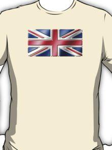 British Union Jack Flag 2 - UK - Metallic T-Shirt