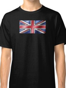 British Union Jack Flag 2 - UK - Metallic Classic T-Shirt