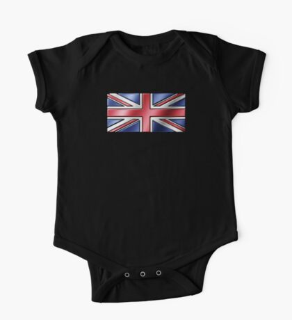 British Union Jack Flag 2 - UK - Metallic One Piece - Short Sleeve