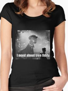 Imma need bout tree fiddy Women's Fitted Scoop T-Shirt