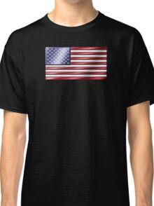American Flag 2 - USA - Metallic Classic T-Shirt