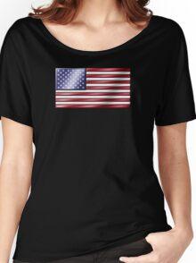 American Flag 2 - USA - Metallic Women's Relaxed Fit T-Shirt