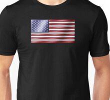 American Flag 2 - USA - Metallic Unisex T-Shirt