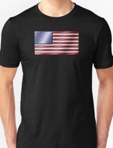 American Flag 2 - USA - Metallic T-Shirt