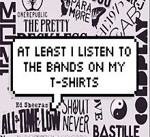 bands on my t-shirt by alexsifthead