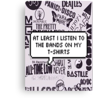 bands on my t-shirt Canvas Print