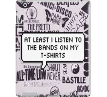 bands on my t-shirt iPad Case/Skin
