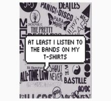 bands on my t-shirt Kids Clothes