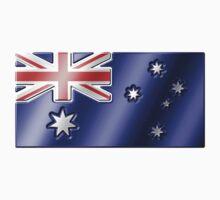 Australian Flag - Australia - Metallic Kids Tee