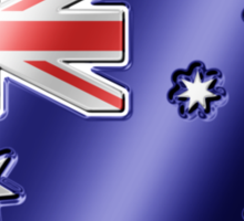 Australian Flag - Australia - Metallic Sticker