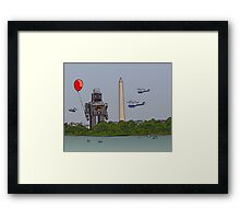 Robot red baloon Framed Print