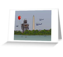 Robot red baloon Greeting Card