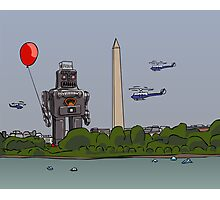 Robot red baloon Photographic Print