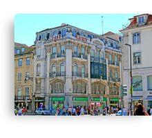 Lisbon. Rua Augusta Canvas Print