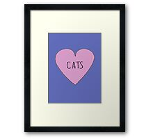 CAT LOVE Framed Print