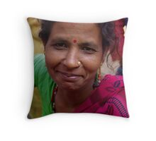 Woman after Puja - Hetauda, Nepal Throw Pillow