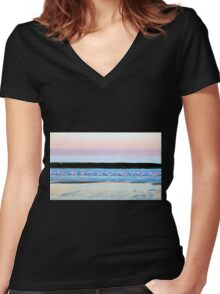 Layers In Color Women's Fitted V-Neck T-Shirt