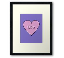 Horse Love Framed Print