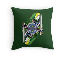 Link Card - Hylian Court Legend of Zelda Throw Pillow
