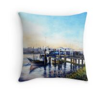 Newhaven Fishing Boats (Sussex ) Throw Pillow