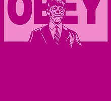 OBEY in Pink by tinaodarby