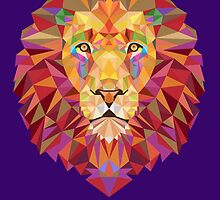 Geometric Lion by tinaodarby