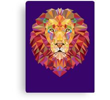 Geometric Lion Canvas Print
